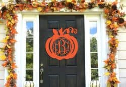 Personalized Initials Wooden Pumpkin Monogram
