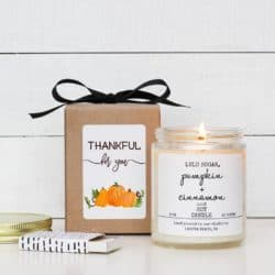 Personalized Thanksgiving Candle