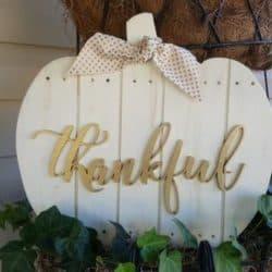 """Thankful"" Pumpkin Sign"