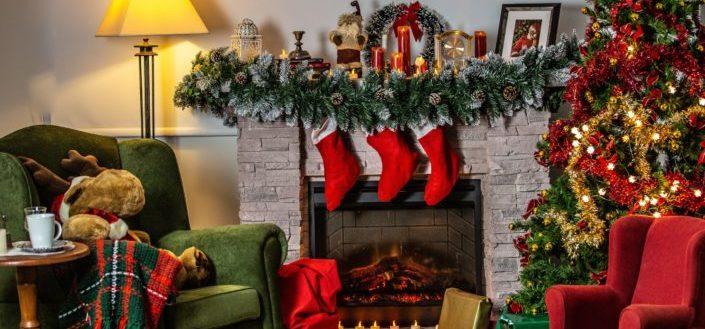 vintage christmas room decorations
