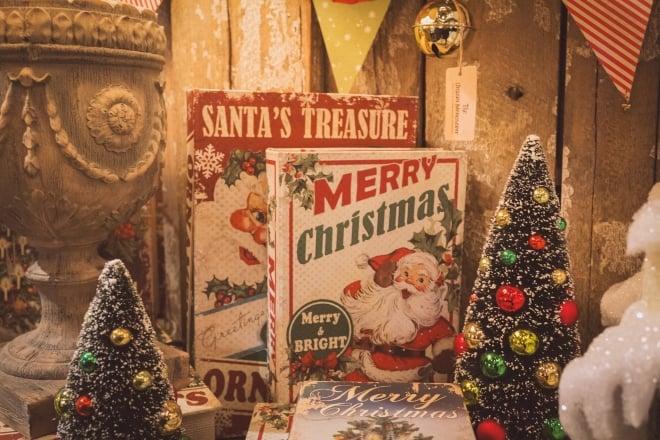vintage christmas decorations - Main