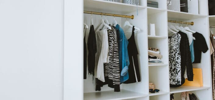 closet with few clothes